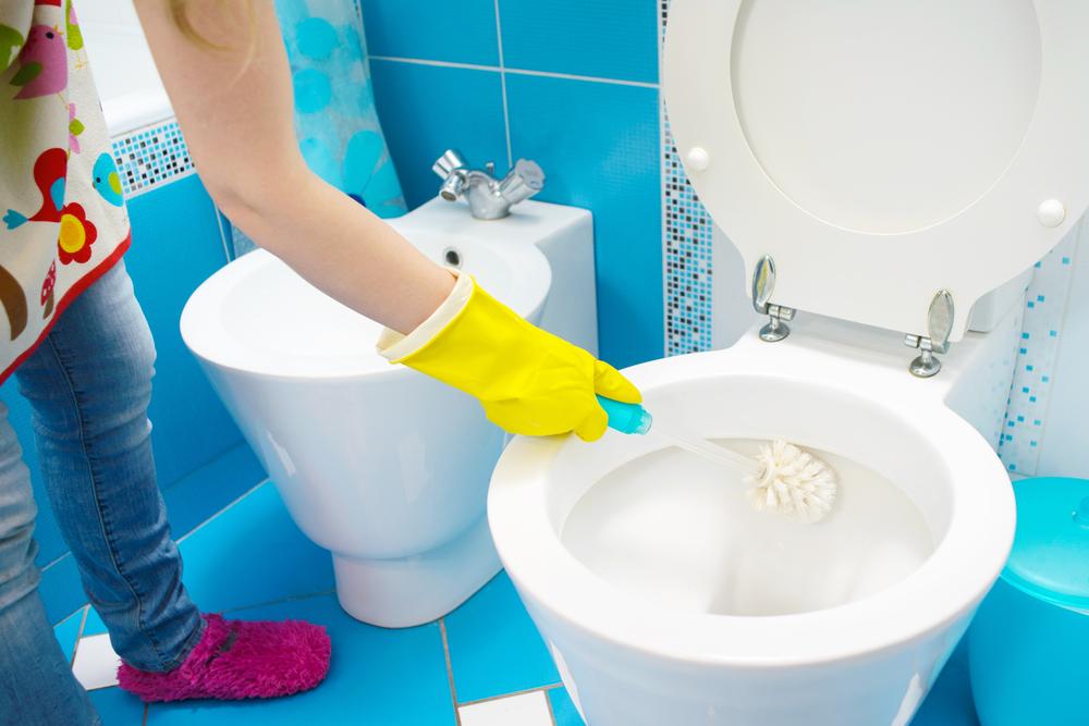 ทำความสะอาดโถส้วมและห้องน้ำ